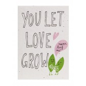 Plantbare Kaart - You Let Love Grow