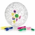 BubaBloon - Kleur je eigen Stoffen Ballon