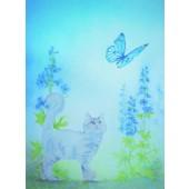 Kaart - Kat en Vlinder