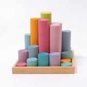 Bouwblokken Cilinder - Groot - Pastel