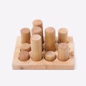 Stapelspel - Kleine cilinderblokken - Naturel