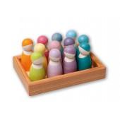 12 Regenboogvriendjes - Pastel