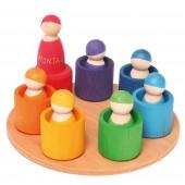 7 Regenboogvriendje - in gekleurde bakjes