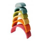 Regenboog Medium - 6 delig - Pastel
