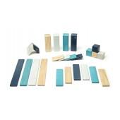 Magnetische Houten Blokkenset - 24 stuks - Blues