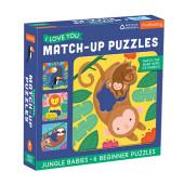 Match-Up Puzzel - Jungle Babies