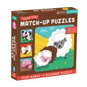 Match-Up Puzzel - Farm Babies