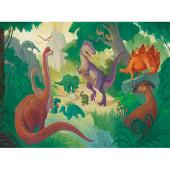 100 stukjes Puzzel & Poster - Dinosaurs