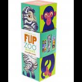 Magnetische Puzzelblokken - Afrikaanse Dieren - 3 stuks (Flip Zoo Blocks)
