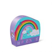 12 stukjes - Mini Puzzel - Regenboog