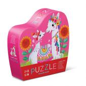 12 stukjes - Mini Puzzel - Lama Liefde