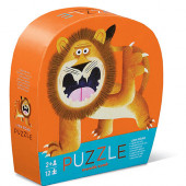 12 stukjes - Mini Puzzel - Brullende Leeuw