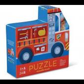 Dubbelzijdige puzzel - Brandweerauto - 24 stukjes