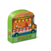 Dubbelzijdige puzzel - Foodtruck - 24 stukjes