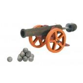 Kanon - Groot - met 10 kanonskogels