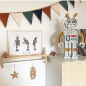 Lamp - Robot - Grijs/Mosterd
