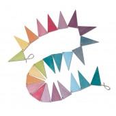 Houten Vlaggenlijn - Pastel