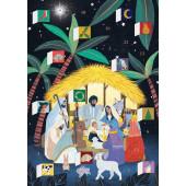 Kaart - Adventkalender - Away in a Manger