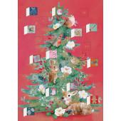 Kaart - Adventkalender - Kerstboom