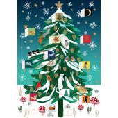 Kaart - Adventkalender - Kerst Conifeer
