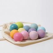 Kleine houten ballen - Pastel