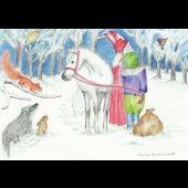 Kaart - Dieren en Sint Nicolaas
