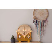 Lamp - Retro Bus - Mosterd/Hout