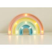 Lamp - Regenboog - Mini - Pastel