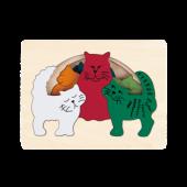 Katten - 6-delige puzzel - George Luck