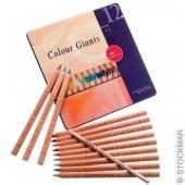Kleurpotloden - Kleurreuzen - 12 Kleuren en 1 Splender