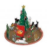 Adventkalender - Tafereel met Honden