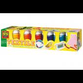 Textielverf - Zes Kleuren