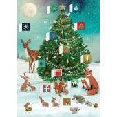 Kaart - Adventkalender - Kerst in het Bos