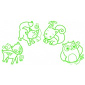 Babystempels - Bosdieren