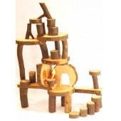 Boomblokken met schors - 36 stuks