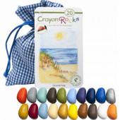 Crayon Rocks - 20 stuks - blauw-wit zakje