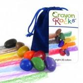 Crayon Rocks - 8 Kleuren - Blauw Fluwelen Zakje