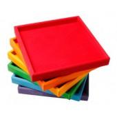 6 Houten Frames - Regenboog
