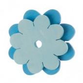 Knoopster - Blauwe Bloem - 2 stuks