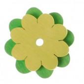 Knoopster - Groene Bloem - 2 stuks