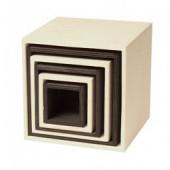Stapelblokken Vierkant - Groot - Monochroom