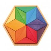 Mandala Puzzel - Ster in Complementaire Kleuren