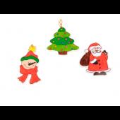 Kleur je eigen Kersthanger - 3 stuks