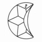 Swarovski Kristal - Maan - 30 mm