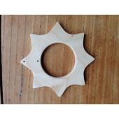 Houten Ster - 10 cm - 4.5 cm