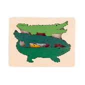 Krokodillen - 6-delige puzzel - George Luck