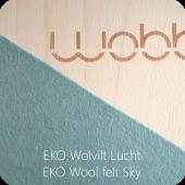 Wobbel - Linnen Whitewash - Vilt Lucht