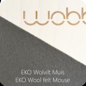 Wobbel XL - Blank gelakt - Vilt Muis
