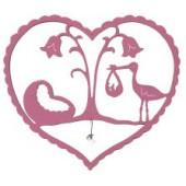 Geboorte raamhanger - Roze