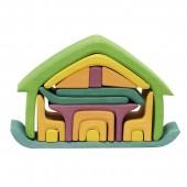 Poppenhuis - Groen-Geel